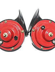 cheap -Pair Electric 12V Loud Sound Dual Tune Snail Horn Siren Universal Fits Car Automobile Motorcycle Battery Car