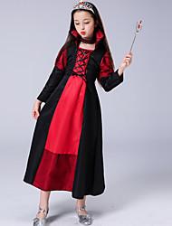 cheap -Kids Girls' Basic Color Block Long Sleeve Maxi Dress Black