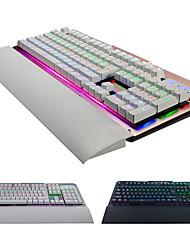 Недорогие -синие переключатели металлическая механическая клавиатура 104-клавишная игровая K26