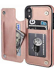 cheap -Case For Apple iPhone XR Card Holder / Shockproof Back Cover Geometric Pattern PU Leather / TPU
