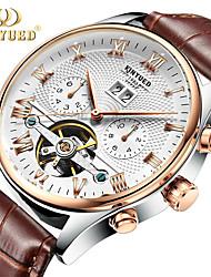 cheap -Genuine KINYUED gold yueda Switzerland automatic hollow tourbillon mechanical watch manJYD-J012