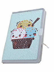 cheap -New Specialty Paper / Double Sided Scale Sequins Cold Drinks In Summer Series Notepads / Note Book For School Office Stationery A5