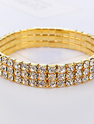 cheap -Women's Crystal Bracelet Classic Imagine Stylish Luxury Rhinestone Bracelet Jewelry Gold / Silver For Daily Festival