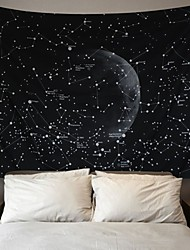 cheap -Wall Tapestry Art Decor Blanket Curtain Picnic Tablecloth Hanging Home Bedroom Living Room Dorm Decoration Galaxy Space Star Moon Constellations Astrology Black and White
