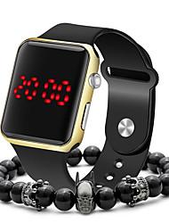 Недорогие -Муж. электронные часы Цифровой Спортивные Стильные силиконовый Черный 30 m Защита от влаги ЖК экран Повседневные часы Аналоговый На каждый день Мода - Черный Розовое золото Лиловый / Один год