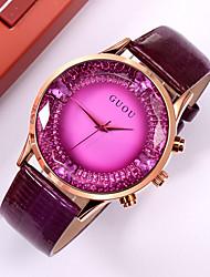 Недорогие -Guou Женские кожаные часы с бабочкой
