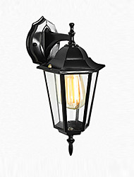 cheap -Outdoor Wall Sconce Waterproof Rustproof Antique Wall Lantern Transparent Glass Shade Garden Courtyard Wall Lighting Fixtures Wall Lamps