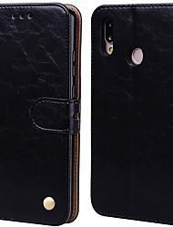 Недорогие -чехол для huawei p20 lite дворцовый цветок из искусственной кожи с прорезью для карт вверх и вниз для huawei p20 lite