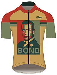 Недорогие -21Grams Джеймс Бонд Муж. С короткими рукавами Велокофты - Красный / желтый Велоспорт Джерси Верхняя часть Дышащий Быстровысыхающий Влагоотводящие Виды спорта 100% полиэстер / Слабоэластичная
