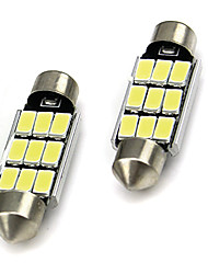 cheap -2PCS Car LED White 5730 9-LED Canbus NO-Error Car Roof Reading Lights License Plate Light 36mm/39mm/41mm