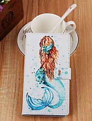 cheap -Case For Apple iPhone XR / iPhone XS Max Wallet / Card Holder / with Stand Full Body Cases Mermaid PU Leather for iPhone 6s / 6s Plus / 7 / 7 Plus / 8 / 8 Plus / X / Xs