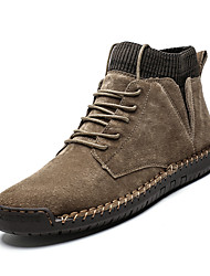 cheap -Men's Fashion Boots Nappa Leather Fall & Winter British Boots Non-slipping Black / Brown / Army Green