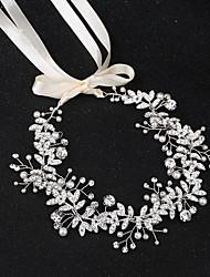 cheap -Pearl Headbands with Pearls / Crystal / Rhinestone 1 Piece Wedding Headpiece