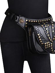 cheap -Women's Bags PU Leather Sling Shoulder Bag Beading Embossed Plain Rivet 2021 Daily Outdoor Black