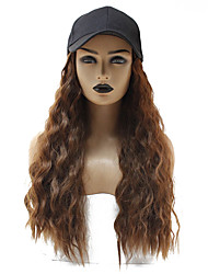 cheap -Weave Water Wave Gaga With Headband Wig Long Brown Synthetic Hair 22 inch Women's Life Synthetic Comfy Brown