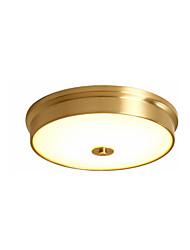 cheap -3-Light Modern Simple Ceiling Light Flush Mount Lights Round Shade Ambient Light Copper for Bedroom Living Room