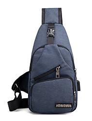 Недорогие -Универсальные Молнии холст Слинг сумки на ремне Сплошной цвет Синий / Черный / Серый / Наступила зима