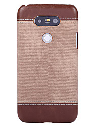 cheap -Case For LG Nexus 6 / LG G5 / LG G4 Ultra-thin Back Cover Solid Colored PU Leather / PC
