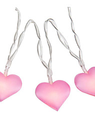 cheap -4M 40 Leds Love Heart Wedding String Fairy Light Christmas LED Led Fairy Pink Girl String Light Indoor Party Garden Garland lighting