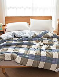 abordables -confortable - couvre-lit 1 pc toutes saisons / hiver / printemps à carreaux en microfibre / à carreaux