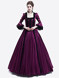 cheap -Princess Maria Antonietta Floral Style Rococo Victorian Renaissance Dress Party Costume Masquerade Women's Lace Costume Purple Vintage Cosplay Christmas Halloween Party / Evening 3/4 Length Sleeve