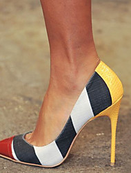 cheap -Women's Heels Stiletto Heel Pointed Toe PU Spring &  Fall Yellow / Color Block
