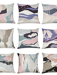 cheap -9 pcs Linen Pillow Cover, Abstract Geometic Modern Boho Throw Pillow