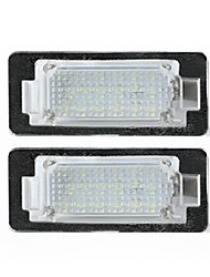 cheap -LED License Number Plate Lights Lamps Bulbs CANBUS Error Free Pair for BMW E39 E60 E82 E70 E90 E92 X3/5/6