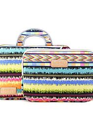 cheap -LiSEN LS-502 11.6 Inch Laptop / 12 Inch Laptop / 13.3 Inch Laptop Sleeve / Briefcase Handbags Canvas Lines / Waves Unisex