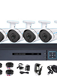 cheap -AHD 4CH Coaxial HD DVR Monitoring Set Shop Infrared Night Vision Monitor One Machine