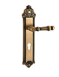 cheap -L32-32-COFF Door Levers Mechanical key Copper