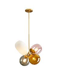 Недорогие -4-Light геометрический Подвесные лампы Рассеянное освещение Электропокрытие Металл 110-120Вольт / 220-240Вольт