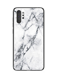 cheap -Shockproof Marble Tempered Glass TPU Frame Case for Samsung Galaxy Note 10 Plus Note 10 Note 9 Note 8