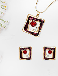 cheap -Women's Jewelry Set Geometrical Precious Fashion Gold Plated Earrings Jewelry Gold For Christmas Wedding Halloween Party Evening Gift 1 set