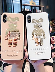 cheap -Case For Apple iPhone XS / iPhone XR / iPhone XS Max Rhinestone Back Cover Cartoon Acrylic for iPhone 6/7/8/6plus/7plus/8plus/X/XS/XR/XS MAX
