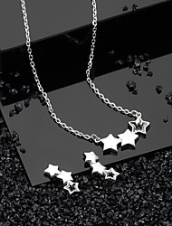 cheap -Women's Necklace Earrings Fashion S925 Sterling Silver Earrings Jewelry Silver For Daily Work 1 set