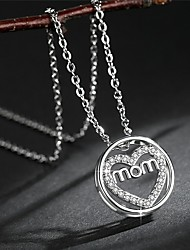 cheap -Women's Pendant Necklace Heart Letter Sweet Elegant Zircon Chrome Rose Gold Gold Silver 45 cm Necklace Jewelry 1pc For Gift