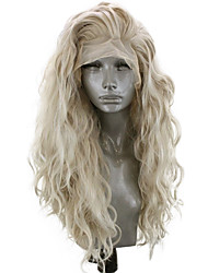 cheap -Synthetic Lace Front Wig Wavy Side Part Lace Front Wig Blonde Long Light golden Synthetic Hair 18-26 inch Women's Adjustable Heat Resistant Party Blonde