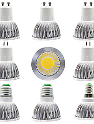 cheap -9pcs 7 W LED Spotlight 300 lm GU5.3 GU10 E27 E14  1 LED Beads COB New Design Home Store Lighting Source Warm White White 85-265 V