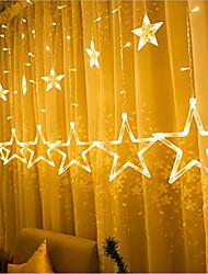 cheap -1pcs 2.5m Star Lamp LED Lamp String Ins Christmas Lights Decoration Holiday Lights Curtain Lamp Wedding Neon Lantern 220v fairy light
