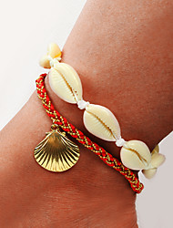 cheap -Ankle Bracelet Women's Body Jewelry For Party Daily Shell Alloy Gold