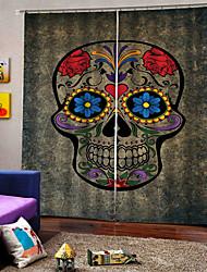 abordables -rideaux en arrière-plan de crâne de diamant d'impression numérique uv numérique rideau en tissu étanche à l'humidité pour le salon / chambre à coucher