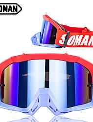 Недорогие -кросс-кантри шлем ветровое стекло очки верховая езда ветрозащитные очки очки мотоцикла оправа цветная черная и зеленая оправа цветные линзы