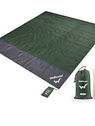 cheap -Camping Pad Picnic Pad Outdoor Portable Convenient TPU Terylene 200*210 cm Picnic Spring Summer Green Blue