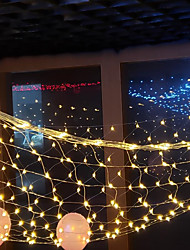 cheap -LED Net Lights 192 LEDs 3Mx2M Outdoor Waterproof String Lights for Christmas Wedding Decoration Fairy String Light Outdoor Décor Lamp Home Décor Interior Decorating