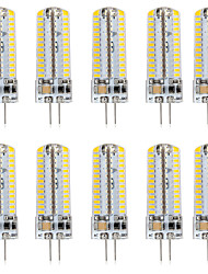 cheap -10pcs 5 W LED Bi-pin Lights 500 lm G4 T 104 LED Beads SMD 3014 Warm White White 220-240 V 110-120 V