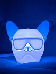 Недорогие -Brelong USB зарядка ночь свет собака голова бульдог RGB атмосферный свет сенсорный переключатель управления звуком датчик