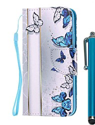 cheap -Case For Samsung Galaxy S10 / S10 Plus / S10 E Wallet / Card Holder / with Stand Full Body Cases Blue Butterfly PU Leather / TPU for A71 / A51 / A90 / A80 / A70 / A50 / A30S / Note 10 Plus / J6 Plus