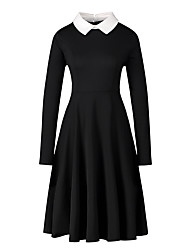 cheap -Audrey Hepburn Retro Vintage Little Black Dress 1950s Dress Masquerade Women's Costume Black Vintage Cosplay Party Halloween