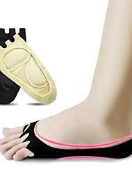 abordables -1 paire Femme Chaussettes Standard Couleur Pleine Soulage le Stress Style Simple Non-tissé EU36-EU42